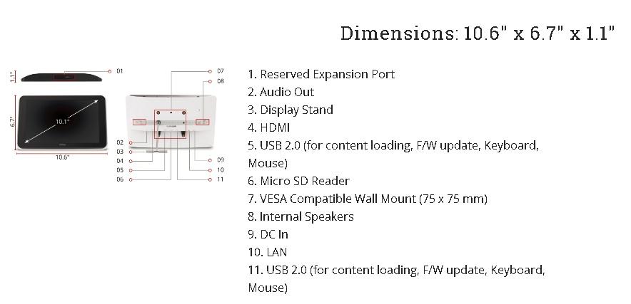 gambar Viewconic EP1042T Port