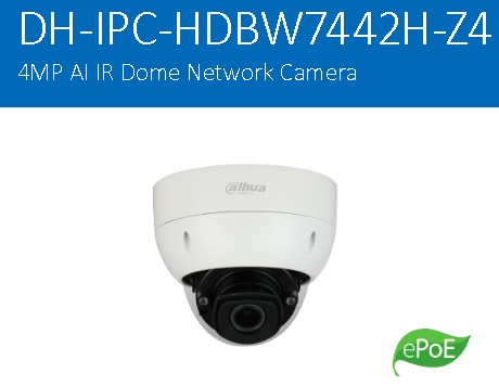 CCTV Dahua IPC-HDBW7442H-Z4 – Ultra-AI/Dome Network Camera