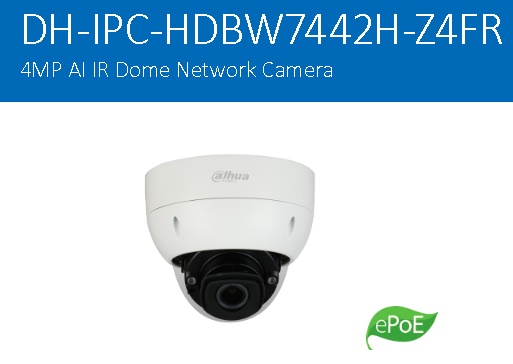 CCTV Dahua IPC-HDBW7442H-Z4FR – Ultra-AI/Dome Network Camera