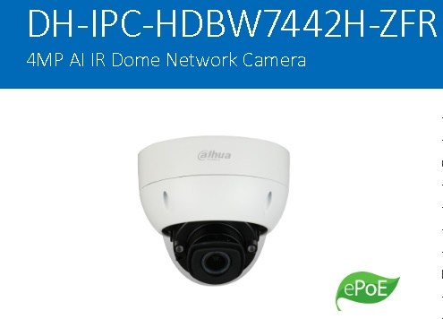 CCTV Dahua IPC-HDBW7442H-ZFR – Ultra-AI/Dome Network Camera